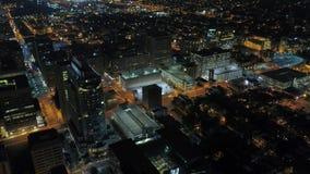 Aerial Delaware Wilmington July 2017 Night 4K Inspire 2. Aerial video of downtown Wilmington at night stock video