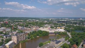 Aerial Delaware Wilmington July 2017 Sunny Day 4K Inspire 2. Aerial video of downtown Wilmington on a sunny day stock video