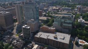 Aerial Delaware Wilmington July 2017 Sunny Day 4K Inspire 2. Aerial video of downtown Wilmington on a sunny day stock video footage