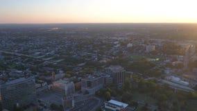 Aerial Delaware Wilmington July 2017 Sunset 4K Inspire 2. Aerial video of downtown Wilmington at sunset stock video