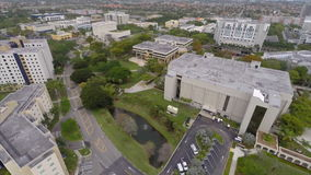 Aerial video of FIU Florida International University Miami Stock Photo
