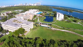 Aerial video of FIU Miami. Aerial stock footage of Florida International University in Miami Florida stock video