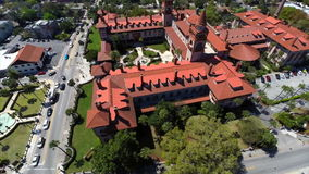 Aerial video Flagler College St Augustine stock video