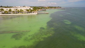 Aerial video of the Florida Keys stock video