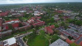 Aerial video of Florida State University Tallahassee stock footage
