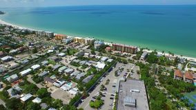 Aerial video Fort Myers Beach FL stock video footage