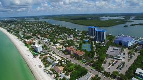 Aerial video Fort Myers Beach FL stock video