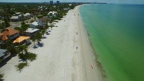 Aerial video Fort Myers Beach FL stock footage