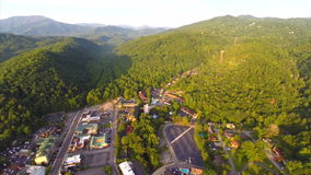 Aerial video Gatlinburg Tennessee Stock Photography