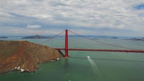 Aerial video Golden Gate Bridge stock video