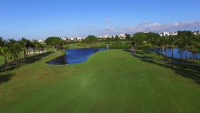 Aerial video golf course 3 stock video footage