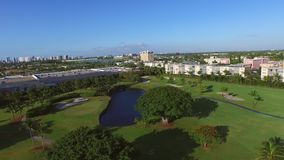 Aerial video golf course 4 stock video