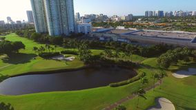 Aerial video golf course 4 stock footage