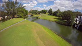Aerial video golf couse Biltmore Miami clip 9 stock footage