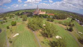 Aerial video golf couse Biltmore Miami clip hyperlapse stock video