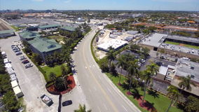 Aerial video of Gulfstream Park Hallandale FL stock video