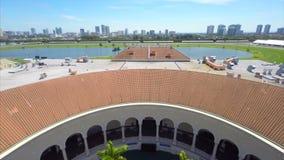Aerial video Gulfstream Park. Stock aerial video of the Gulfstream Park Hallandale FL stock video