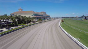 Aerial video Gulfstream Race Track and Casino stock footage