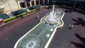 Aerial video of Gulfstream race track and casino stock footage