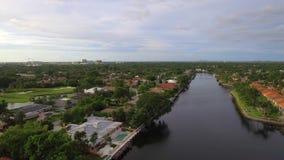 Aerial video Hallandale Beach FL stock footage