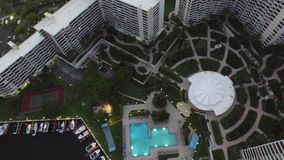 Aerial video Hallandale FL at dusk 6 stock video