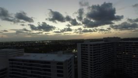Aerial video Hallandale FL at dusk 9 stock video