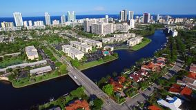 Aerial video of Hallandale FL stock footage