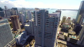 Aerial video of a highrise condominium at Brickell Miami Royalty Free Stock Photos