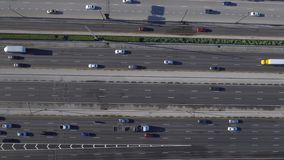 Aerial video of a highway stock footage