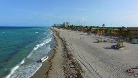 Aerial video Hollywood Beach FL stock footage
