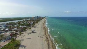 Aerial video Hollywood Beach FL 3 stock video