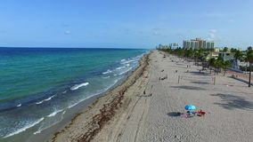 Aerial video Hollywood Beach FL 4 stock footage