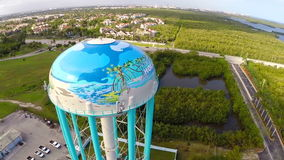 Aerial video of the Hollywood Water tank Royalty Free Stock Photos