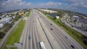 Aerial video of I95 Florida stock video footage