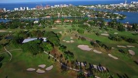 Aerial video Indian Creek Miami Beach estates stock footage