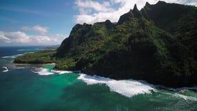 Aerial Hawaii Kauai Kalalau Napali Coast State Park Trail November 2017 Sunny Day 4K Wide Angle Inspire 2 Prores