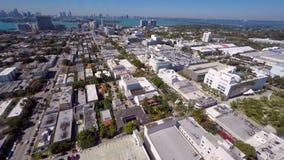 Aerial video of Lincoln Road Miami Beach
