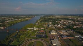 Aerial Arkansas Little Rock September 2016 4K