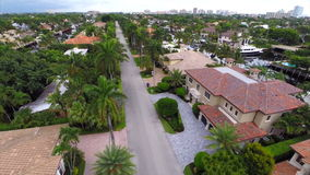 Aerial video of luxury homes Stock Photo