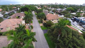 Aerial video of luxury homes Royalty Free Stock Images