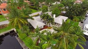 Aerial video of luxury homes. Stock aerial drone video of luxury houses in Fort Lauderdale Florida USA