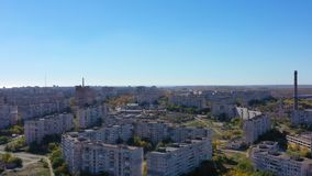 Aerial video.. Mariupol Ukraine. View from the aerial view of the buildings. Of the town stock footage