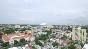 Aerial video Marlins Stadium stock footage