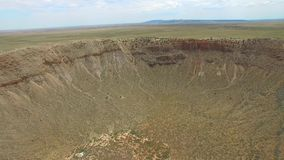 Aerial video of a Meteor Crater stock video