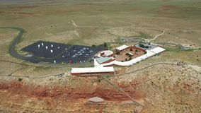 Aerial video Meteor Crater 3 stock video footage