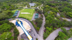 Aerial video Metro Zoo Miami Royalty Free Stock Images