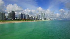 Aerial video Miami Beach America stock footage