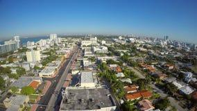 Aerial video of Miami Beach Florida. Aerial 4k uhd video of Miami Beach USA stock video footage