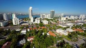 Aerial video of Miami Beach Florida. Aerial 4k uhd video of Miami Beach USA stock video