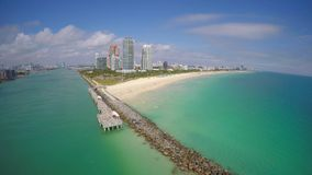 Aerial video Miami Beach stock video